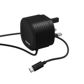 HAMA Mobile USB Cable Convertor Type C UK, 2.4A Black