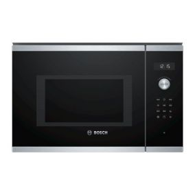 BOSCH Microwave Oven Built In With Grill Touch Black 25L
