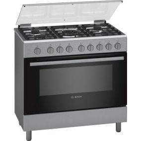 BOSCH Cooker Freestanding 5 Gas  Full Safety Steel 90CM