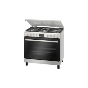 BOSCH Cooker Freestanding 5 Gas Convectional Full Safety Steel 90CM