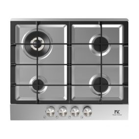 MASTER KITCHEN Hob Built-In 4 Gas Stainless Steel 60CM
