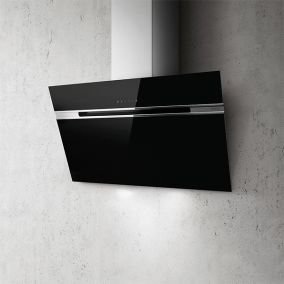 ELICA Chimney Wall Mounted Touch Inclined Black 90CM
