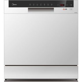 MIDEA Dishwasher Freestanding 8 Place Silver